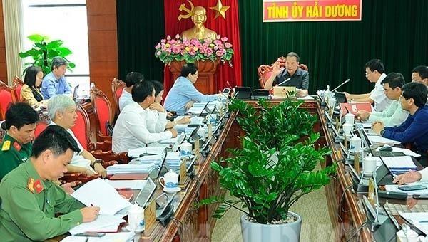 Hội nghị lần thứ 166 của Ban Thường vụ Tỉnh ủy Hải Dương.