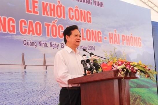 Thủ tướng chính thức phát lệnh khởi công đường cao tốc Hạ Long - Hải Phòng