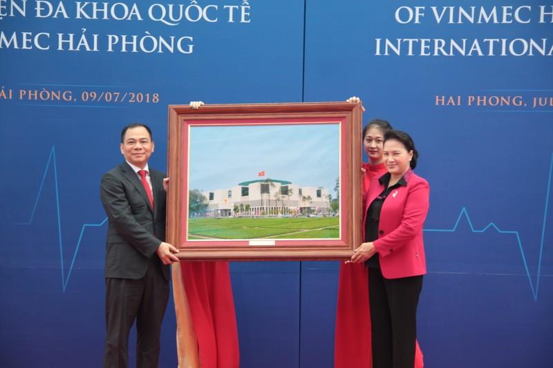 Chủ tịch Quốc hội Nguyễn Thị Kim Ngân tại lễ khai trương Bệnh viện Đa khoa quốc tế Vinmec Hải Phòng