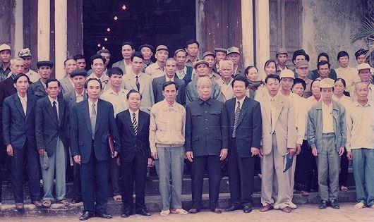 Đồng chí Đỗ Mười dành tình cảm đặc biệt cho nhân dân huyện Vĩnh Bảo