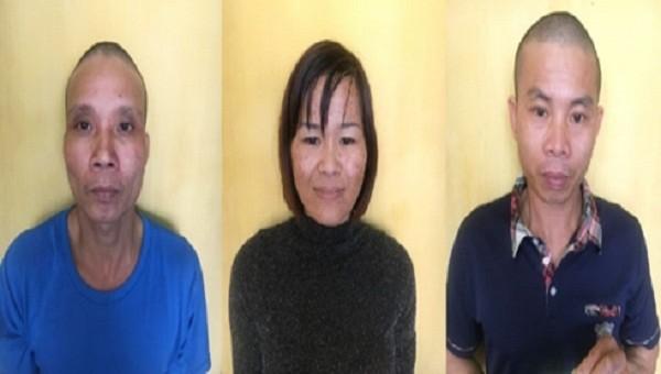 Ba đối tượng tại cơ quan điều tra