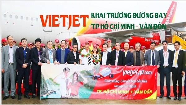 VietJet khai trương đường bay TP Hồ Chí Minh - Vân Đồn