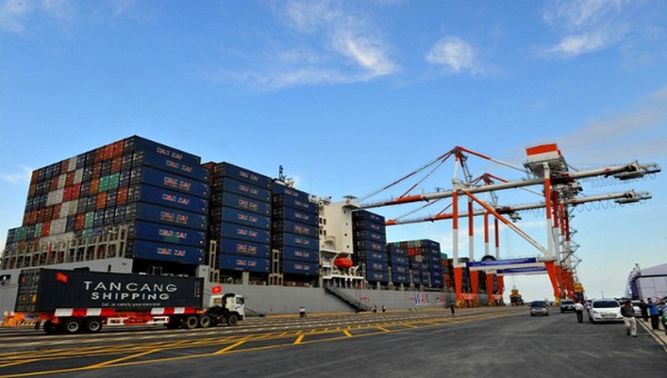 Một góc KCN Cảng cửa ngõ quốc tế Hải Phòng