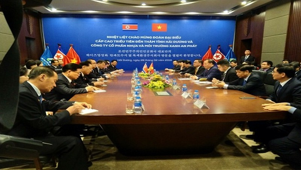 Đoàn Triều Tiên thăm và làm việc tại Tập đoàn An Phát.