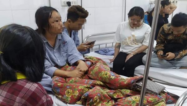 Em L. đang nằm điều trị tại bệnh viện Đa khoa tỉnh Quảng Ninh