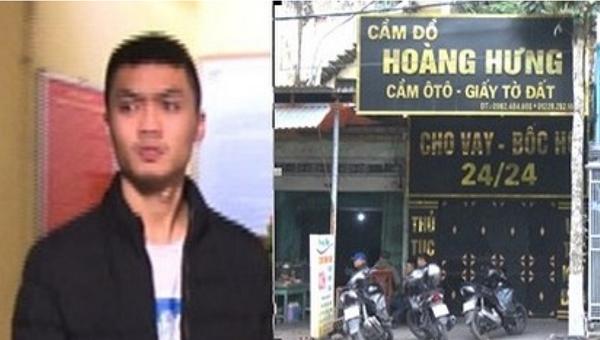 Đối tượng Khải bị khởi tố vì cho vay nặng lãi tại cửa hàng Cầm đồ Hoàng Hưng ở Cẩm Phả