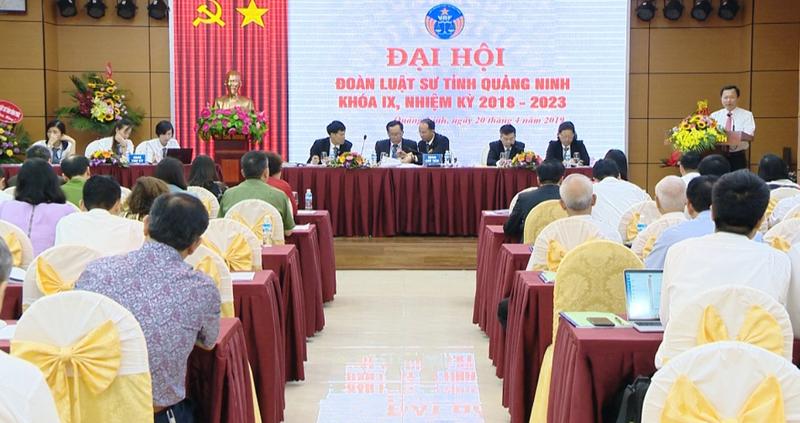 Đại hội đoàn luật sư tỉnh Quảng Ninh khóa IX (2018-2023).