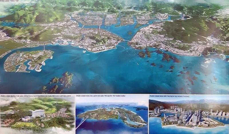 Phối cảnh tổng thể TP Hạ Long đến năm 2040