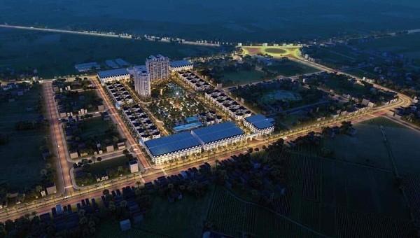 Phối cảnh tổng thể Dự án phát triển nhà ở thương mại tại xã Đông Mỹ, TP. Thái Bình.