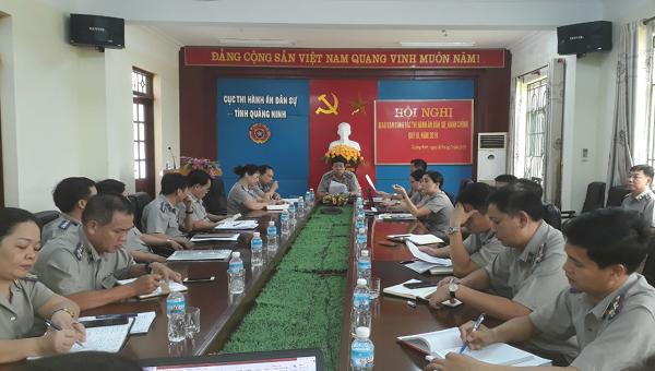 Cục THADS tỉnh Quảng Ninh giao ban công tác