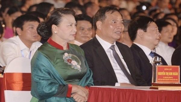 Chủ tịch Quốc hội Nguyễn Thị Kim Ngân dự lễ công bố