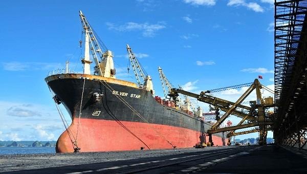 Tàu trọng tải lớn cập cảng phục vụ vận chuyển than