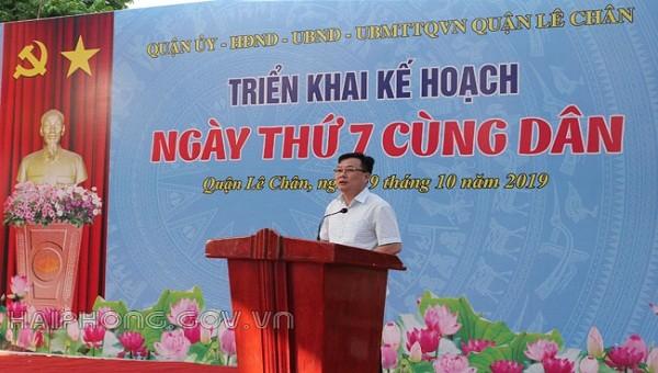 Quận Lê Chân (Hải Phòng) vận động xã hội hóa để chỉnh trang công viên cây xanh