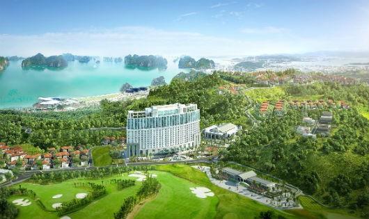 Phối cảnh chung của FLC Grand Hotel Hạ Long