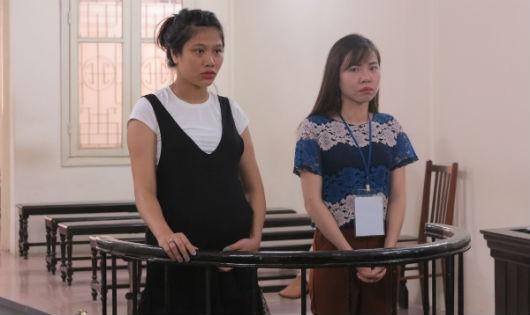 Bị cáo Thương và Linh tại tòa