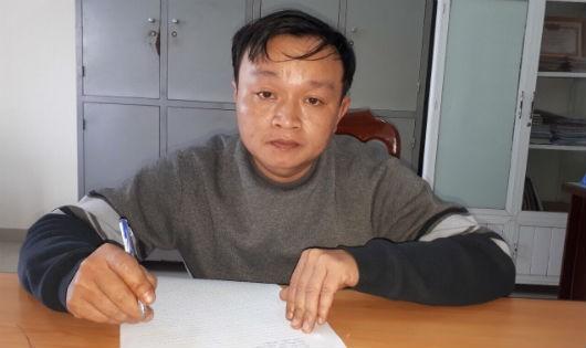 Đối tượng Nguyễn Đình Thương tại cơ quan công an