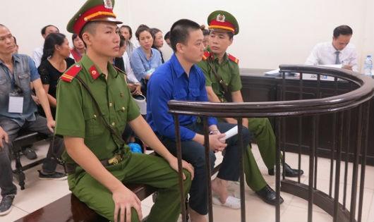 Bị cáo Hùng tại tòa sơ thẩm