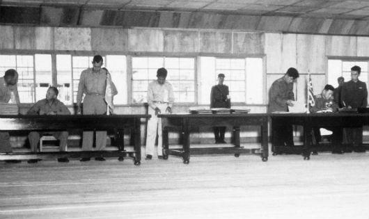 Lễ ký kết tại Bàn Môn Điếm năm 1953