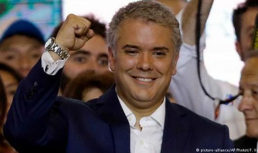 Tổng thống đắc cử của Colombia.