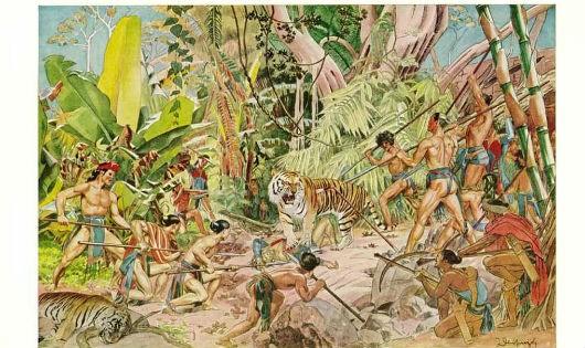 Một cuộc đi săn tập thể. Hình minh họa