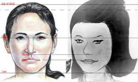 Mô tả nhận dạng thi thể người đàn bà.