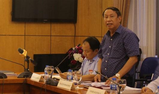 Ông Nguyễn Thanh Thủy, Phó Tổng cục trưởng Tổng cục Thi hành án dân sự (Bộ Tư pháp) phát biểu tại buổi họp báo