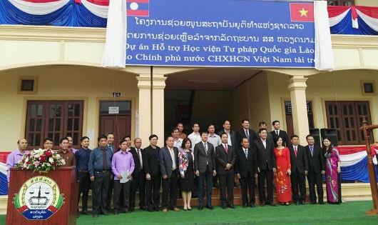 Lễ Khởi động Dự án Hỗ trợ Học viện Tư pháp quốc gia Lào do Chính phủ Việt Nam tài trợ vào tháng 3/2018