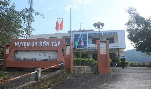 Huyện ủy Sơn Tây, Quảng Ngãi.