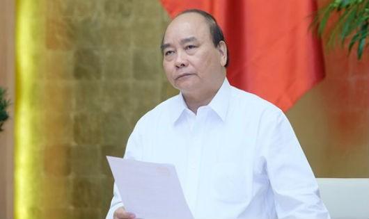Thủ tướng Nguyễn Xuân Phúc phát biểu chỉ đạo tại phiên họp
