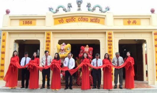 Lễ khánh thành đền thờ Hoài Quốc Công Võ Tánh ở ấp Gò Tre, thị xã Gò Công năm 2017.