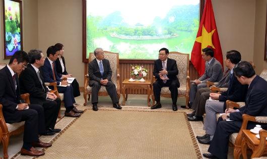 Phó Thủ tướng Vương Đình Huệ tiếp Phó Chủ tịch điều hành Tập đoàn Mitsubishi (Nhật Bản)