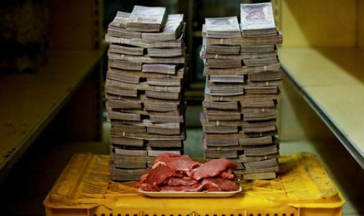 Những thực phẩm đắt đỏ như thịt từng có giá tới 9,5 triệu bolivar mỗi kg