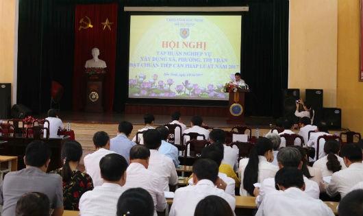 Tập huấn công tác xây dựng xã, phường, thị trấn đạt chuẩn tiếp cận pháp luật tỉnh Bắc Ninh năm 2017.