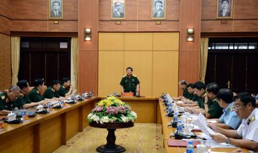 Đại tướng Ngô Xuân Lịch phát biểu tại Hội nghị