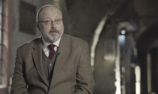 Nhà báo Jamal Khashoggi trong một cuộc phỏng vấn hồi tháng ba.