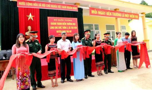 Điểm trường học làng Khe Chữ, xã Trà Vân đã được khánh thành