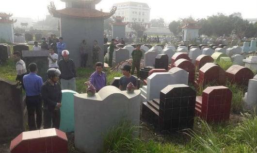 Nghĩa trang nơi xảy ra sự việc
