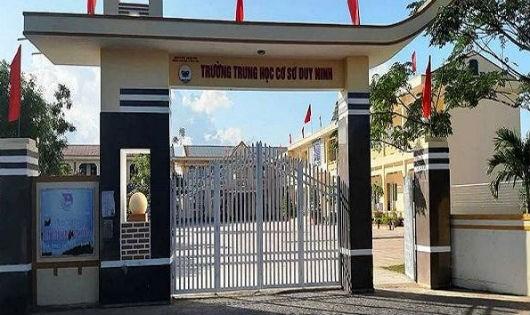 Trường THCS Duy Ninh, nơi xảy ra sự việc học sinh lớp 6 bị cô giáo phạt 231 cái tát.