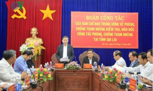 Thượng tướng Tô Lâm phát biểu tại buổi làm việc