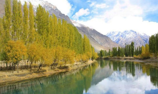 Một bức ảnh về mùa thu bình yên ở Pakistan