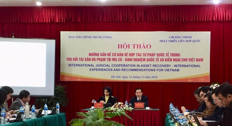 Tại Hội thảo, nhiều giải pháp được thảo luận để tăng cường hiệu quả thu hồi tài sản do phạm tội.