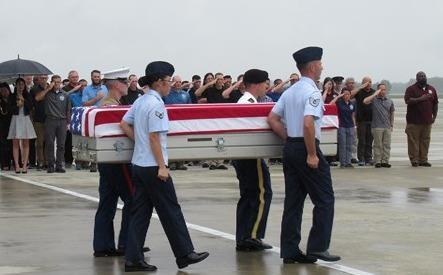 Lễ trao trả hài cốt binh lính Mỹ  lần thứ 147 tại Đà Nẵng ngày 11/12 vừa qua.