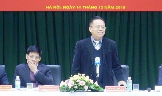 PGS,TS Lê Quốc Lý phát biểu tại hội thảo.