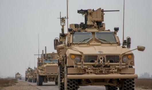 Một đoàn xe quân sự Mỹ tại Syria