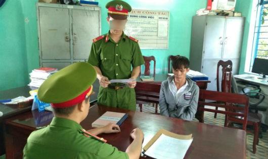 Đối tượng Nguyễn Văn Phước tại cơ quan công an