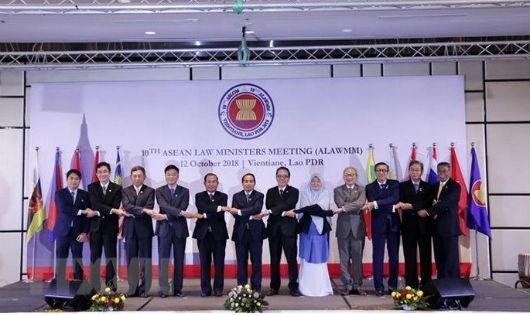 Các đại biểu tham dự Hội nghị Bộ trưởng Tư pháp ASEAN lần thứ 10