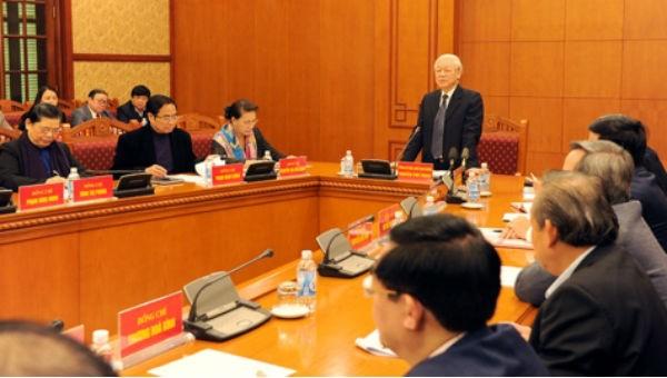 Tiểu ban văn kiện Đại hội XIII của Đảng họp phiên đầu tiên
