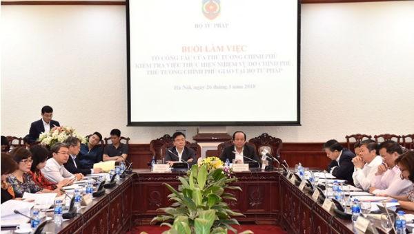 Bộ, ngành Tư pháp tham gia ngày càng sâu vào phát triển kinh tế - xã hội