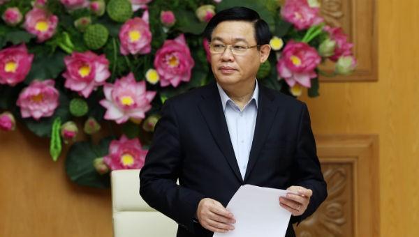 Phó Thủ tướng Vương Đình Huệ phát biểu tại cuộc họp