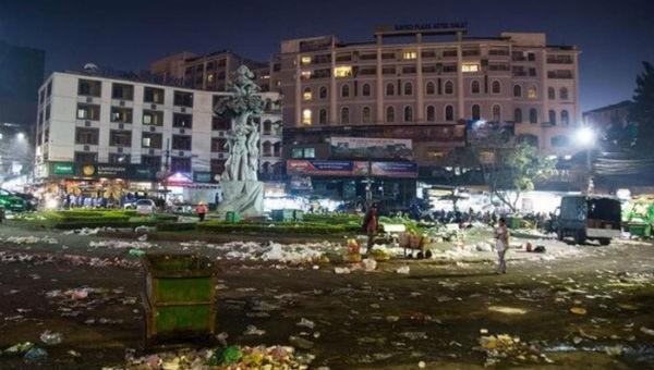 Hình ảnh Đà Lạt ngập trong rác sau Tết được người dân chụp lại